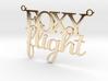 Foxy Flight Necklace 3d printed