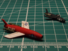 Vought SSM-N-8 Regulus I 1/200 3d printed Comparison between the 1/200 model (painted in red) and the 1/285 model