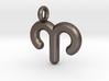 Aries Symbol Keychain 3d printed