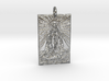 Holy Mother Pendant 3d printed
