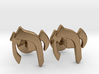 "Hebrew Monogram Cufflinks - ""Yud Zayin Reish"" 3d printed"