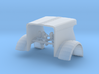 1/64th Peterbilt 359 hood for DCP 379 cab/grill 3d printed
