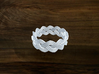 Turk's Head Knot Ring 3 Part X 12 Bight - Size 9.5 3d printed