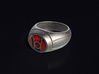 Red Lantern Ring 3d printed 3D render of the ring. Does not come with enamel paint applied.