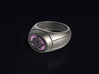 Violet Lantern Ring 3d printed 3D render of the ring. Does not come with enamel paint applied.