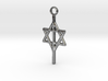 "1"" Cross with Star of David - Messianic Jewish 3d printed"