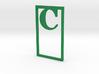 Bookmark Monogram. Initial / Letter  C  3d printed
