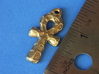 Ankh Pendant - Textured 3d printed to show scale