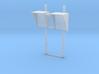 N-02 N Gauge (1:148) DOO MIrrors (Pair) 3d printed