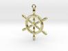 Nautical Steering Wheel Pendant 3d printed