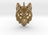 Timber Wolf Pendant 3d printed