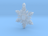 Once Upon a Time Snowflake Pendant 3d printed