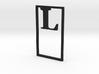 Bookmark Monogram. Initial / Letter  L  3d printed