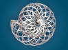 Snail Shell - Wireframe  3d printed 3D Render (front)