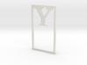 Bookmark Monogram. Initial / Letter  Y  3d printed