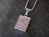 Silver Periodic Table Pendant 3d printed The Silver Periodic Table Pendant in polished silver.