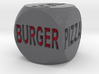 Fast Food Decision Die-Black with red letters 3d printed