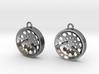 """Low Tenor """"Void"""" steelpan earrings 3d printed"""
