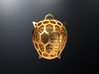 Turtle pendant 3d printed Turtle pendant is 3D printed in raw brass.
