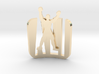 Ali- Pendant,curved 3d printed