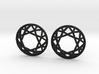 Diamond Wireframe Top Earrings 3d printed