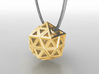 Brilliant Facets - Triangle Pendant 3d printed