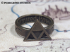Ring - Triforce of Power 3d printed Polished Bronze Steel