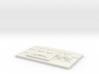 Hoth Rank Badge 3d printed