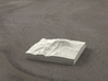 3'' Mt. Adams, Washington, USA, Sandstone 3d printed Radiance rendering of model, viewed from the East.