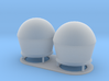 1:96 scale SatCom Dome Set 2 3d printed