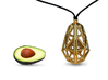 Poly Avocado Jewel 3d printed Necklace Mode