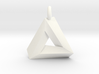 Penrose Triangle - Pendant (3cm | 3.5mm O-Ring) 3d printed