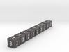 Dice / Crates - Full colour - Grey (9pcs) 3d printed