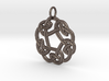 Celtic Circle Knot Pendant (steel) 3d printed