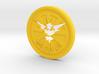 Pokemon Go Team Instinct Challenge Coin 3d printed
