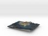 The Big Island Map, Hawaii 3d printed