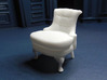 1:24 Rollback Chair 3d printed Printed in White, Strong & Flexible