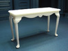 1:24 Fancy Queen Anne Console Table, Large 3d printed Printed in White Strong & Flexible