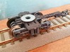 Bogie SGP300 3d printed Ready model, with wheels, bearings and couplings fitted (White strong and flexible)