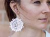 Snow Flake Earrings 3d printed Polished Strong & Flexible
