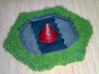 Missile Silo Hex(BT) Plate 3d printed Hand Painted example