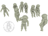 Destination Moon / Classic Astronauts Set /  1:144 3d printed