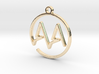 A & A Monogram Pendant 3d printed