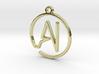 A & I Monogram Pendant 3d printed