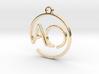 A & O Monogram Pendant 3d printed