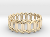 Geometric Ring 4- size 7 3d printed