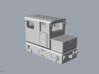 Tunneling battery locomotive H0e 3d printed Tunneling and mining battery model locomotive H0e