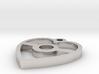 Pokeball Heart Pendant 3d printed