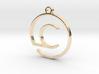 """""""C continuous line"""" Monogram Pendant 3d printed"""