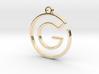 G Monogram Pendant 3d printed